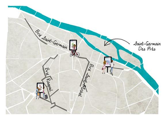 Plan Saint Germain / ©Les Pärisiens