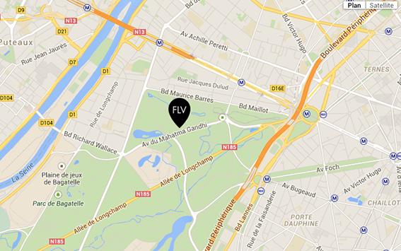 Plan d'accès Fondation Louis Vuitton