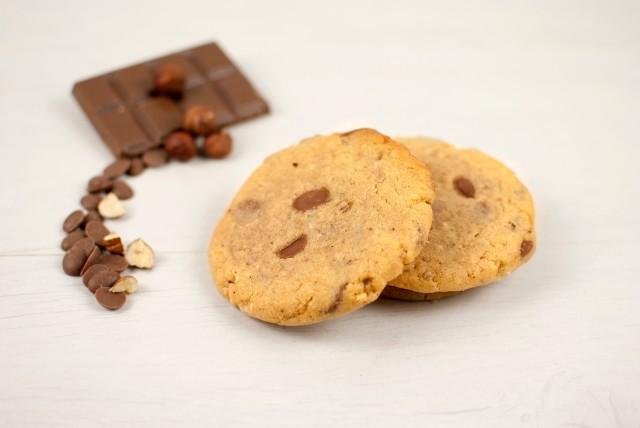 Cookie choco lait noisettes - article www.justabreak.com