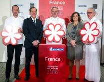 Lancement du Guide Michelin 2016 des hotels et restaurants au Pavillon Vendôme, Paris le 1er février 2016 en présence des chefs étoilés et de nombreuses personnalités du monde la restauration.
